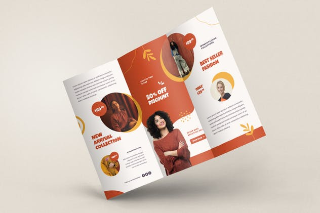 Fashion Trifold Brochure - product preview 3