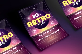 Thumbnail for 80s Retro Party Flyer