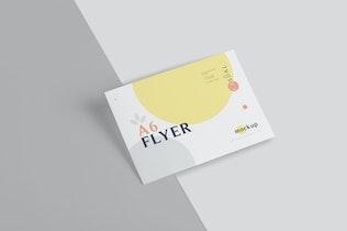 Thumbnail für A6 Single Page Flyer Mock-ups