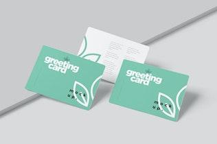Round Edges Greeting Card Mockups