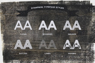 Thumbnail for Stampbor Typeface
