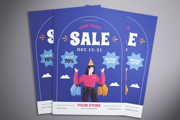 End Year Sale Flyer - product preview 2