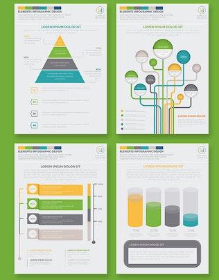 Элементы инИнфографика дизайна