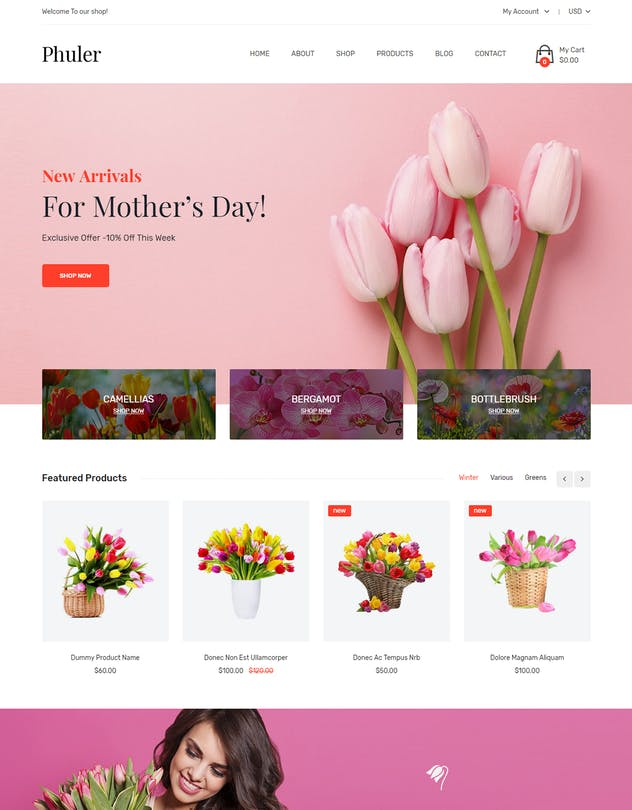 Phuler - Flower Shop Shopify Theme + DropShipping
