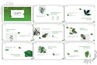 Thumbnail for Leafy - Google Slides Template