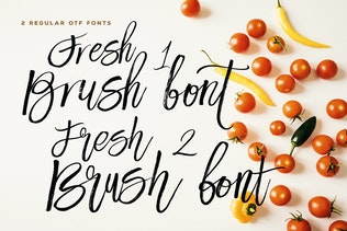 Thumbnail for Fresh Brush Font