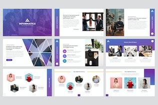 Thumbnail for Informatics - IT Company Keynote Template