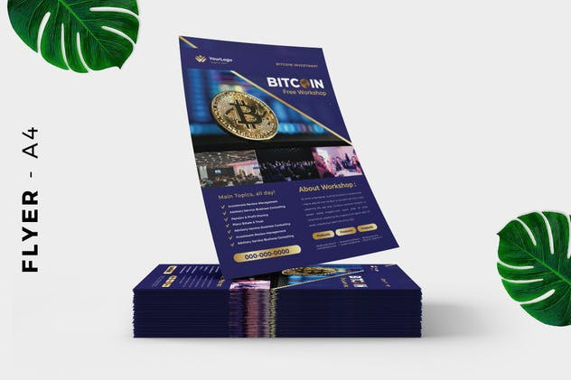 Bitcoin Cryptocurrency Mining Flyer - product preview 2