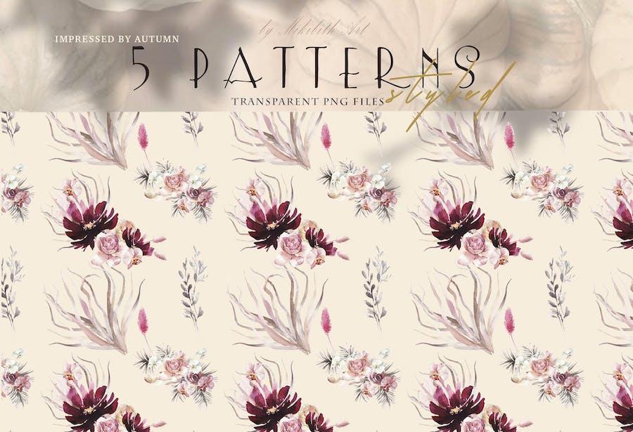 Floral boho styled Patterns
