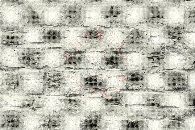 Halftone Brick & Stone Wall Textures - product preview 4