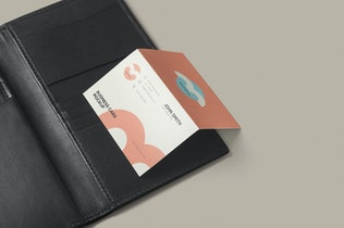 Thumbnail for Two Fold Business Card Mockups