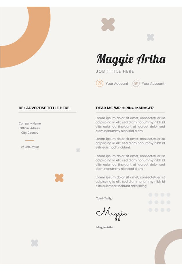 Maggie Artha - Resume & Letter - product preview 1