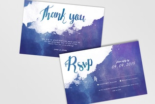 Thumbnail for Watercolor Wedding Invitations