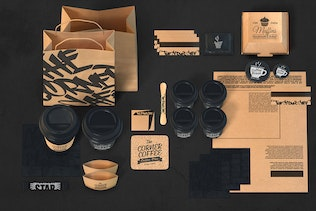 Thumbnail for Coffee Cafe Branding Identity Mockup