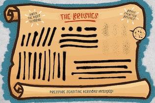 Thumbnail for Spray Paint  - 33 Illustrator Brushes