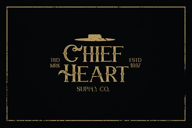 Chief Cart Vintage Typeface - product preview 2