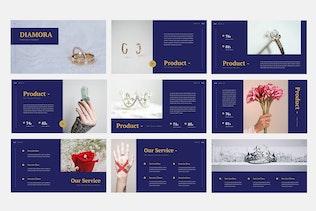 Thumbnail for Diamora - Jewelry Keynote Presentation Template