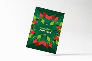 Thumbnail for Modern Merry Christmas Card