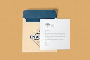 Thumbnail for Unique Square Shaped Envelope Mockups
