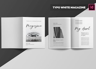 Thumbnail for Typo White | Magazine Template