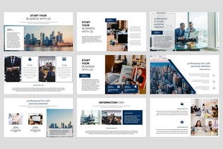 Thumbnail for Compania - Firm Google Slides Template