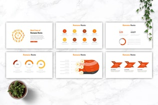 Thumbnail for ROMANO - Restaurant & Food Google Slides Template