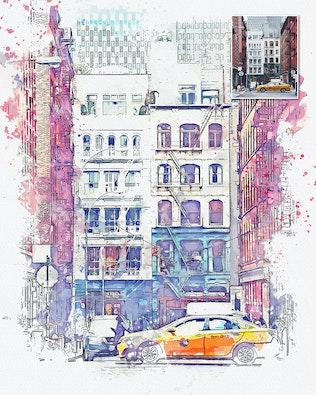 Миниатюра для Действие Photoshop в городском Sketch
