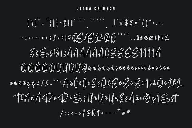 Jetha Crimson Signature Brush Font Typeface