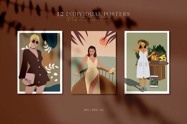 Abstract Woman Portrait Posters - product preview 2