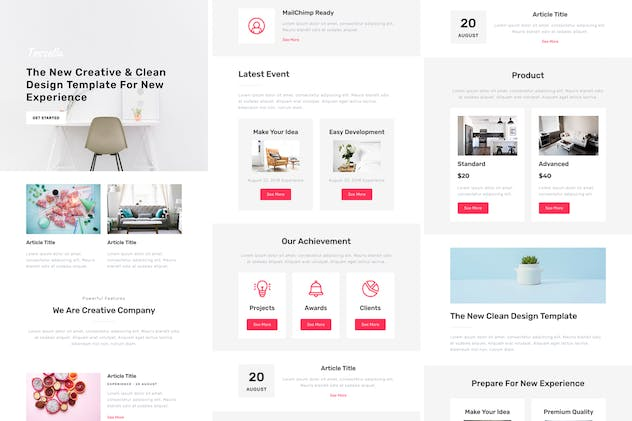 Tessella - Responsive Email + StampReady Builder - product preview 3