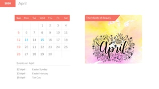 Thumbnail for Calendar 2020 & Events Powerpoint Template