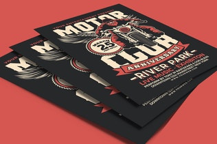 Thumbnail for Motorcycle Club Event Flyer