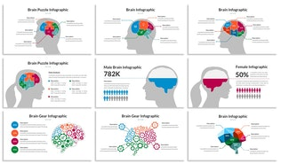 Thumbnail for Brain Infographic for Powerpoint Template