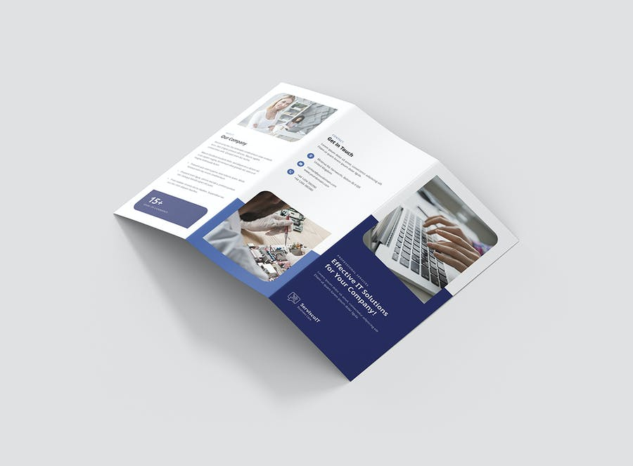 Brochure – IT Services Tri-Fold - product preview 1