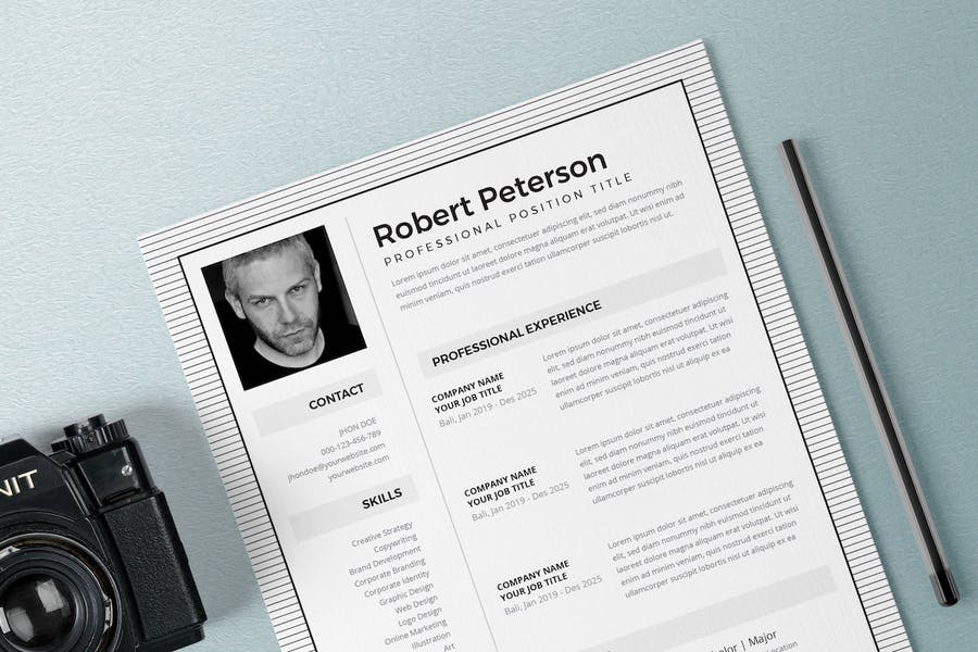 Resume / CV Template Pro - product preview 2