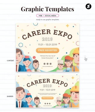 Thumbnail for Career Expo Graphic Templates