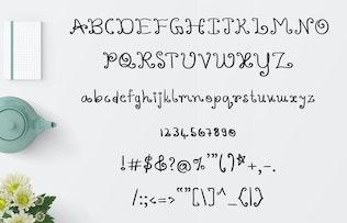 Thumbnail for Varshuma - Handwritten Swirly Fun Font