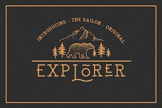Miniatura para EXPLORER - Sailor Original Tipo de letra