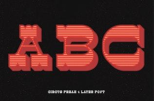 Thumbnail for Circus Freak Font