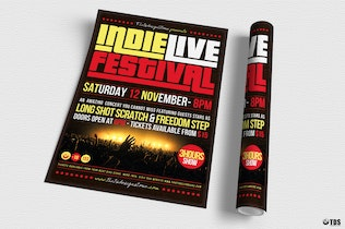Thumbnail for Indie Live Festival Flyer Template