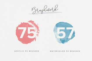 Thumbnail for Brushwork: Artistic Procreate & Photoshop brushes