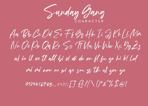 Sunday Gang | Handwritten Font - product preview 8