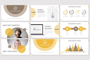 Миниатюра для Cosmo - Бизнес Google Слайды Шаблон