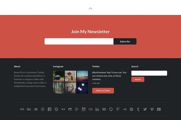 Seven Pro Tumblr Theme - product preview 1