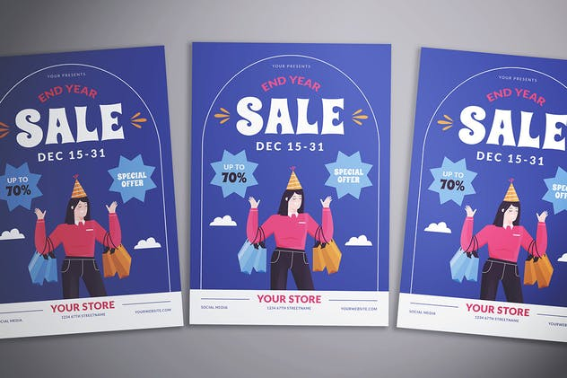 End Year Sale Flyer - product preview 3
