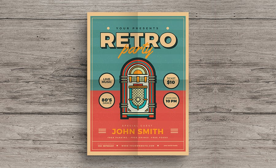 Retro Jukebox Party Flyer - product preview 1
