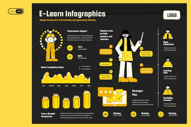 Infographic Chart Elements for Education
