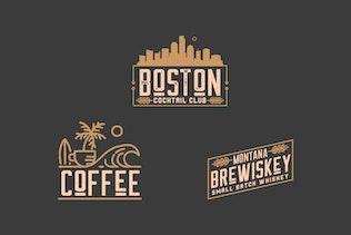 Thumbnail for Coffee, Brewery, Restaurant, Badge Logo Kit