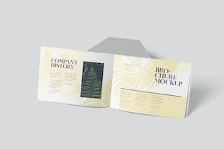 Thumbnail for A5 Querformat Broschüre Cover & Seiten Mock-ups