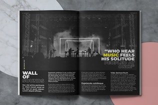 Thumbnail for Louder Music Magazine Template